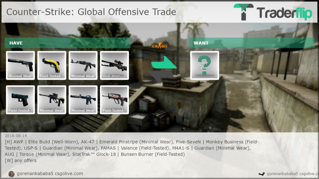 gorenankababa5 csgolive com Wants to Trade Counter-Strike