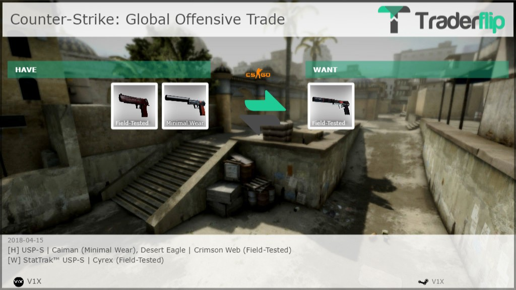 v1x wants to trade counter strike global offensive items traderflip