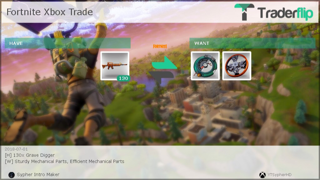 Sypher Intro Maker Wants to Trade Fortnite Items